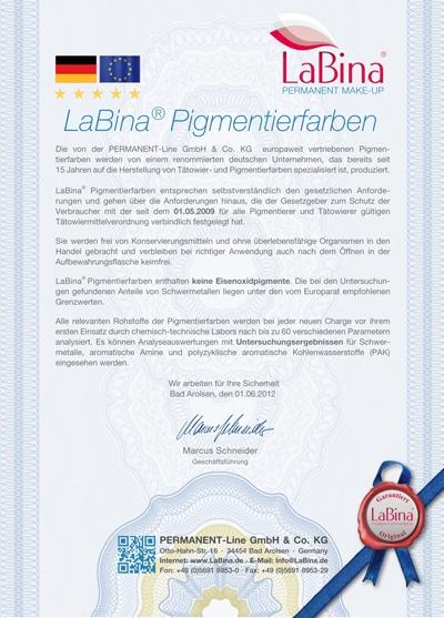 Labina Permanent Makeup Farben
